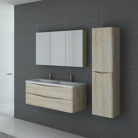 Meuble de salle de bain double vasque TREVISE 1200 Scandinave
