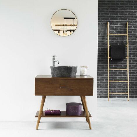 Meuble de salle de bain en bois de mindy 80