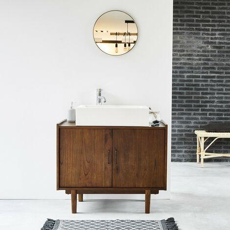 Meuble de salle de bain en bois de mindy VINTAGE 90 cm