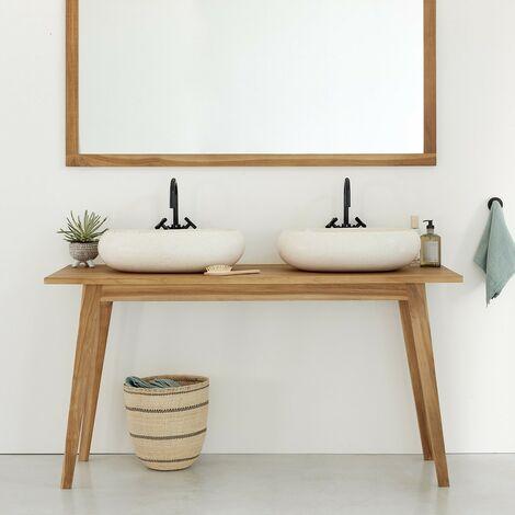 Meuble de salle de bain en bois de teck 150