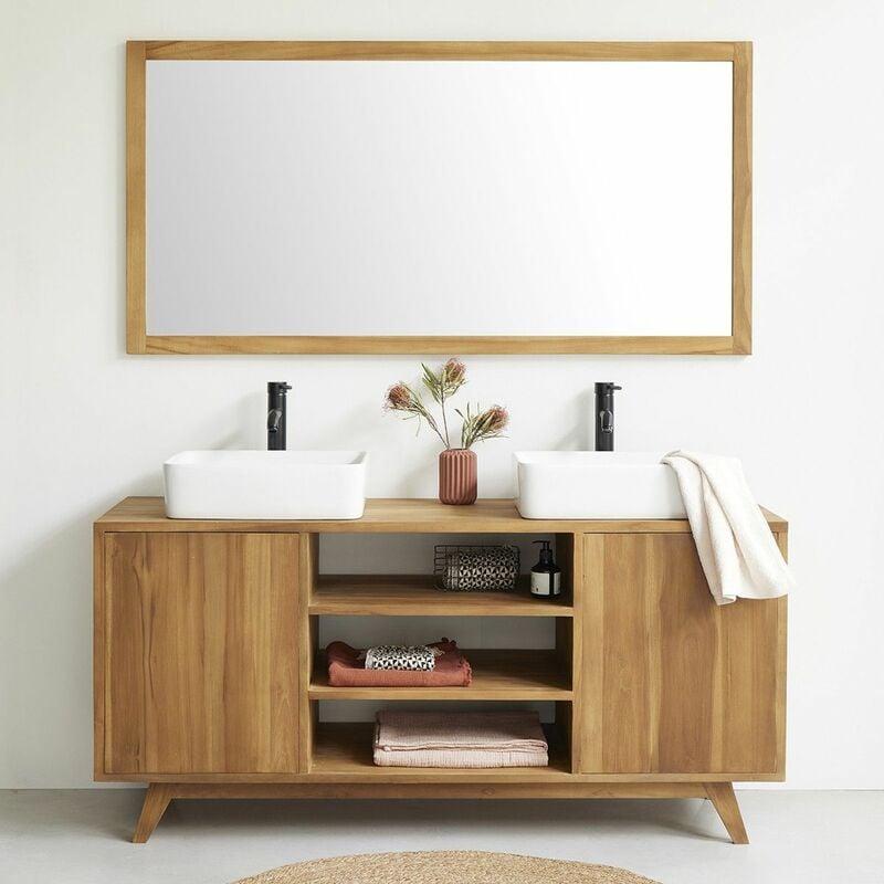 Meuble de salle de bain en bois de teck 160 -