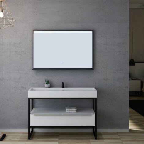 Meuble de salle de bain LAMEZIA 1200 Blanc