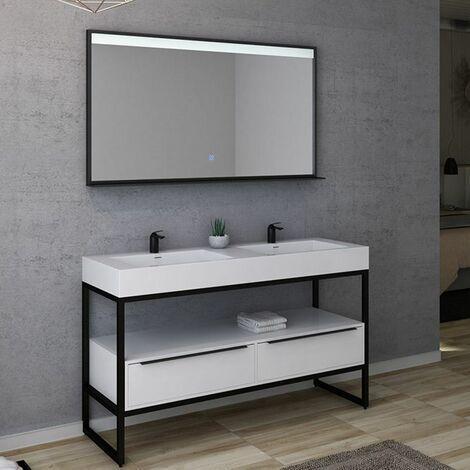 Meuble de salle de bain LAMEZIA 1400 Blanc