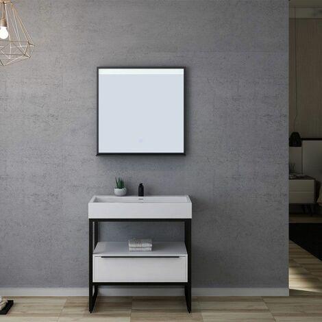 Meuble de salle de bain LAMEZIA 800 Blanc