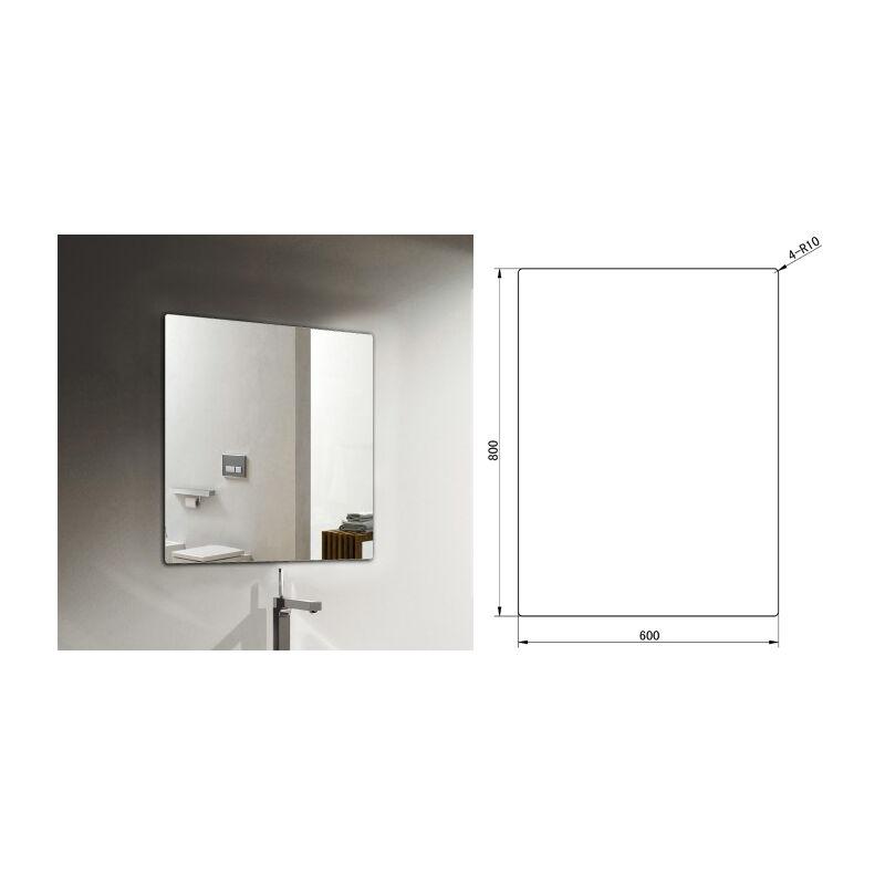 Meuble De Salle De Bain M600 Couleur Noyer Marron Fonce Miroir En Option