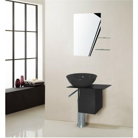 Meuble de salle de bain MANRESA, noir - Noir