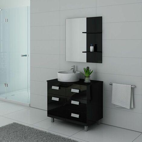 Meuble de salle de bain MILAN Noir
