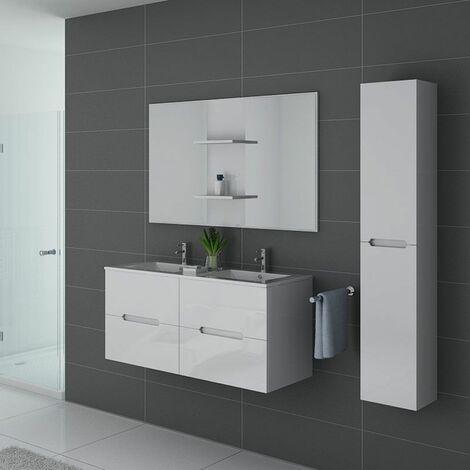 Meuble de salle de bain Milazzo Blanc