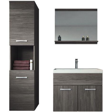 Meuble de salle de bain Montreal 60 cm lavabo Bodega - Armoire de rangement Meuble lavabo evier Meubles