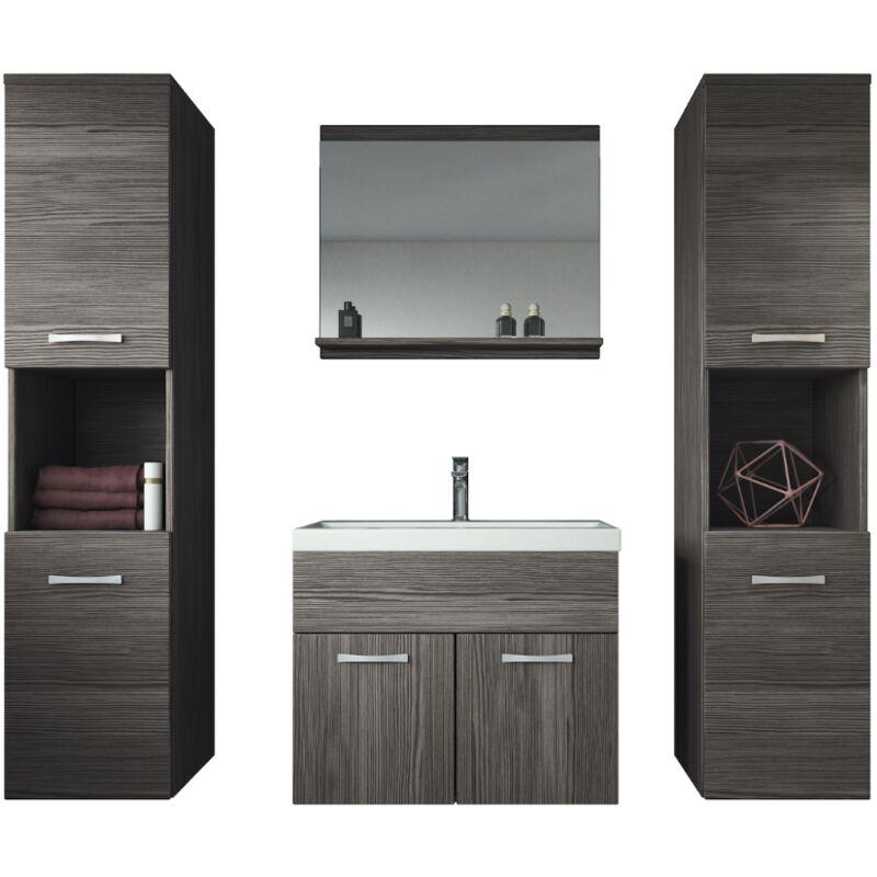 Meuble de salle de bain Montreal xl 60 cm lavabo Bodega - Armoire de  rangement Meuble lavabo evier Meubles