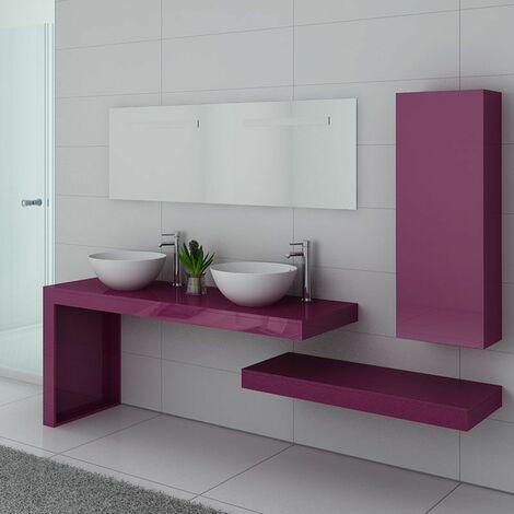 Meuble de salle de bain Monza Duo Aubergine