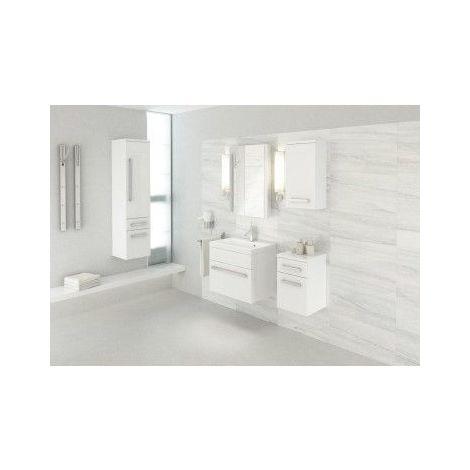 Meuble de salle de bain OLEX Blanc 60cm sans colonne