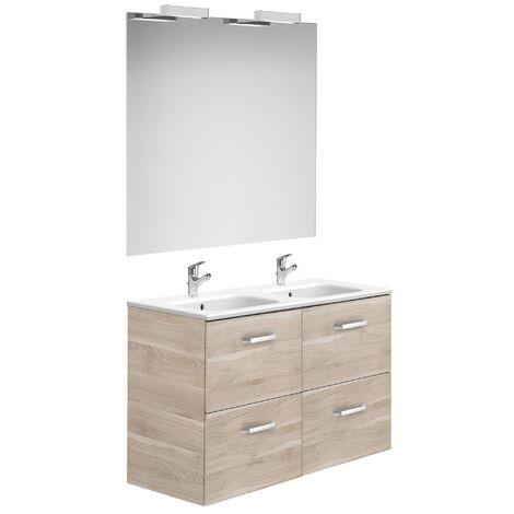 Meuble de salle de bain Roca avec tiroirs bouleau 1200 mm
