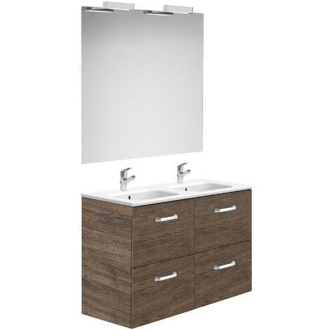 Meuble de salle de bain Roca avec tiroirs cèdre 1200 mm