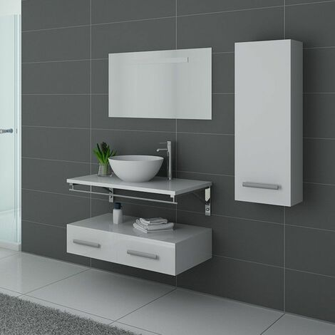 Meuble de salle de bain simple vasque Blanc VIRTUOSE