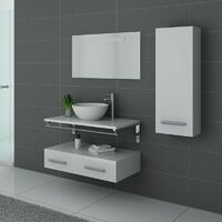 Meuble de salle de bain simple vasque Blanc VIRTUOSE