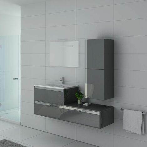 Meuble de salle de bain simple vasque SUBLISSIMO Gris Taupe