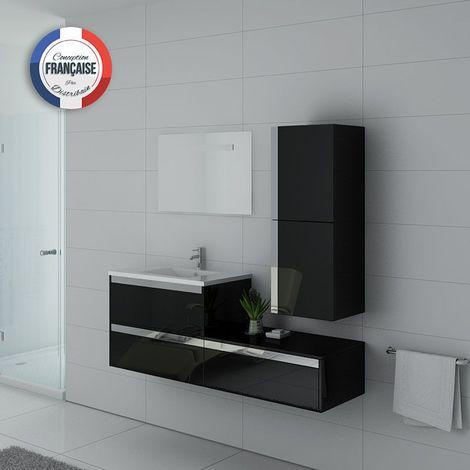 Meuble de salle de bain simple vasque SUBLISSIMO Noir