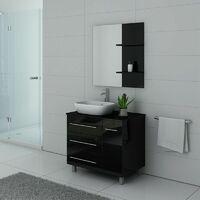 Meuble de salle de bain simple vasque TOSCANE Noir