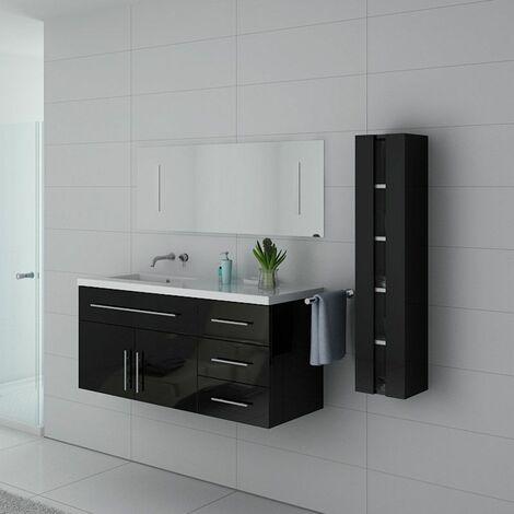 dff92a1d38a3f Meuble de salle de bain simple vasque URBAN Noir