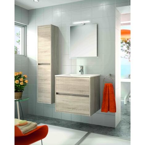 Meuble de salle de bain suspendu 600 mm marron Caledonia ...