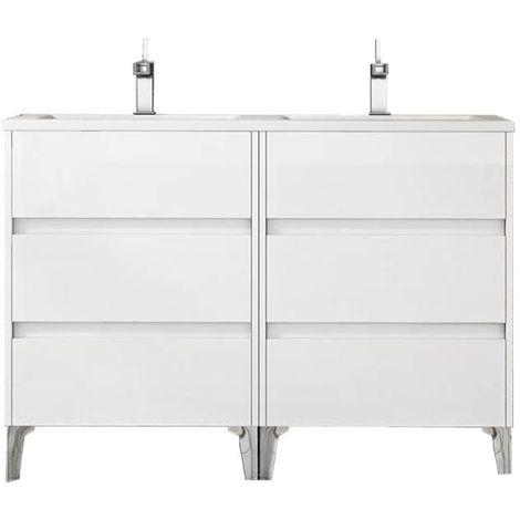 Meuble de salle de bain TENERIFE 120cm blanc brillant