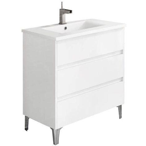 Meuble de salle de bain TENERIFE 80cm blanc brillant