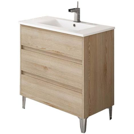 Meuble de salle de bain TENERIFE 80cm bois clair