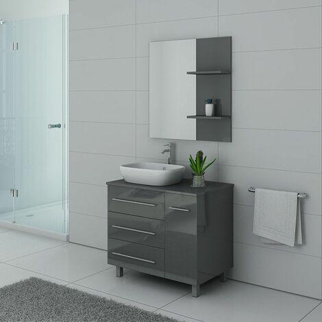 Meuble de salle de bain TOSCANE Gris Taupe