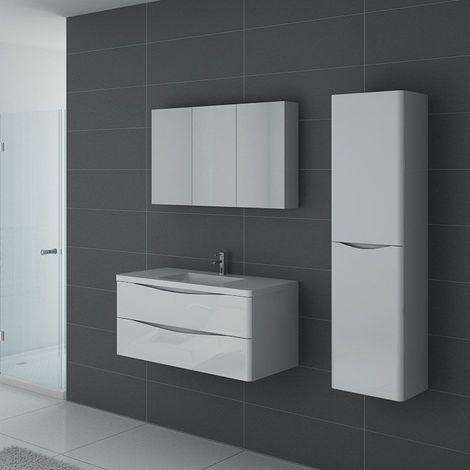 Meuble de salle de bain TREVISE 1000 Blanc