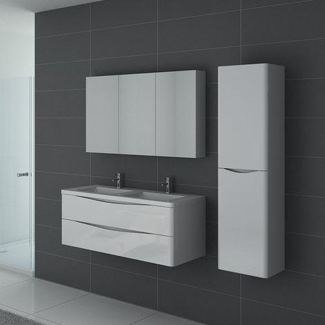 Meuble de salle de bain TREVISE 1200 Blanc