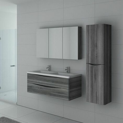Meuble de salle de bain TREVISE 1200 Chêne gris