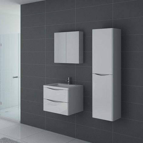 Meuble de salle de bain TREVISE 600 Blanc