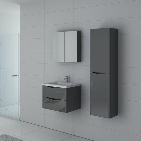 Meuble de salle de bain TREVISE 600 Gris Taupe
