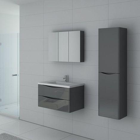 Meuble de salle de bain TREVISE 800 Gris Taupe
