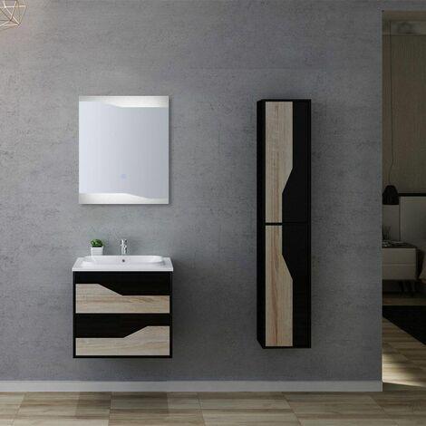 Meuble de salle de bain URBINO 600 Scandinave et Noir