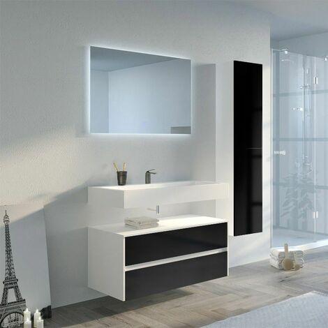Meuble de salle de bain VISENZA 1000 Noir