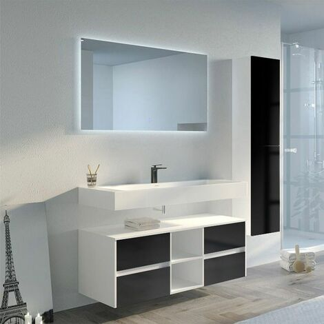 Meuble de salle de bain VISENZA 1200 Noir
