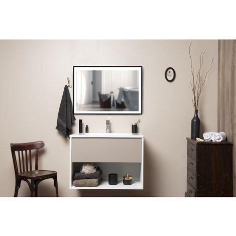 Meuble de salle de bains Français - 1 Tiroir Argile & 1 Niche - H56 x L60 cm