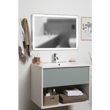 Meuble de salle de bains Français - 1 Tiroir Vert & 1 Niche ...