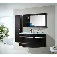 """MEUBLE DE SALLE DE BAINS Modèle """"BLACK AMBASSADOR"""" meuble 120 x 56 x h 56 - Unité de colonne 35 x 30 x h 140"""