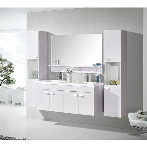 Meuble De Salle De Bains Modele White Elegance Meuble 120 X 46