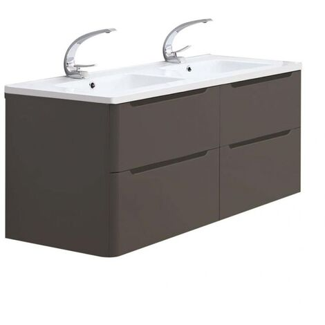 Meuble double vasque 120cm TOOLA Argile