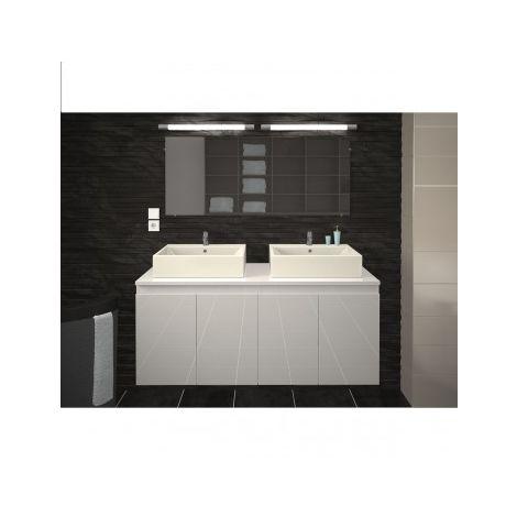 Meuble et double vasques de salle de bain en 120 cm