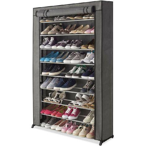 Meuble étagère à chaussures avec housse - 30 paires