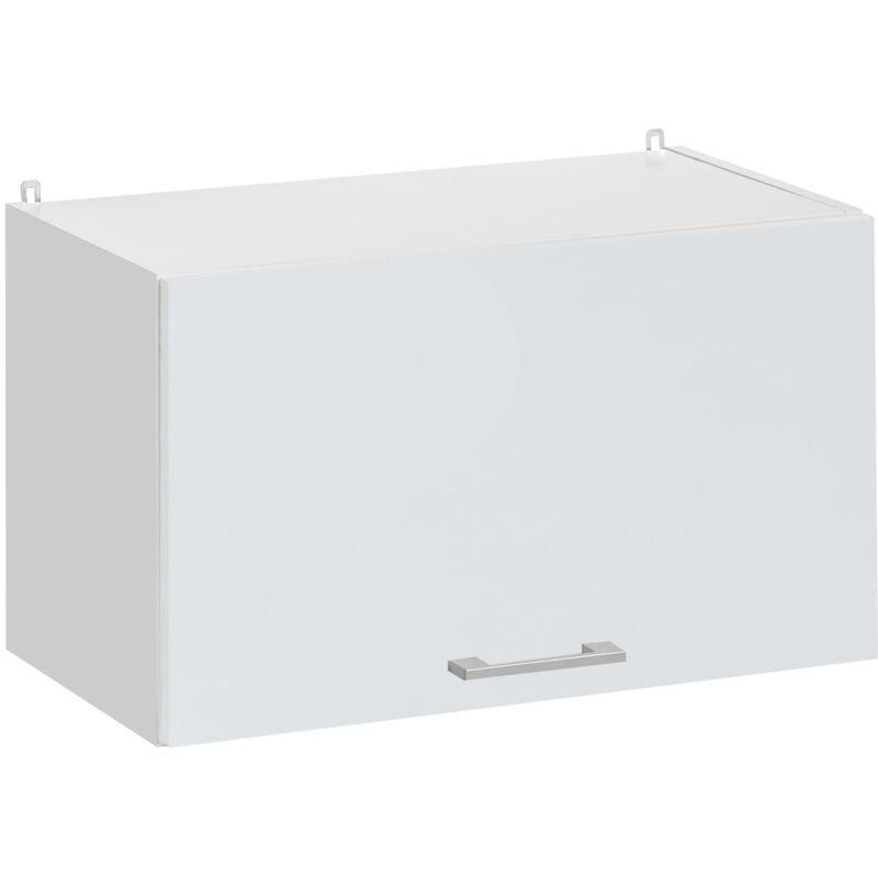 Cuisineandcie - Meuble haut de cuisine - 1 porte relevable L 60 cm - blanc brillant - Blanc brillant.