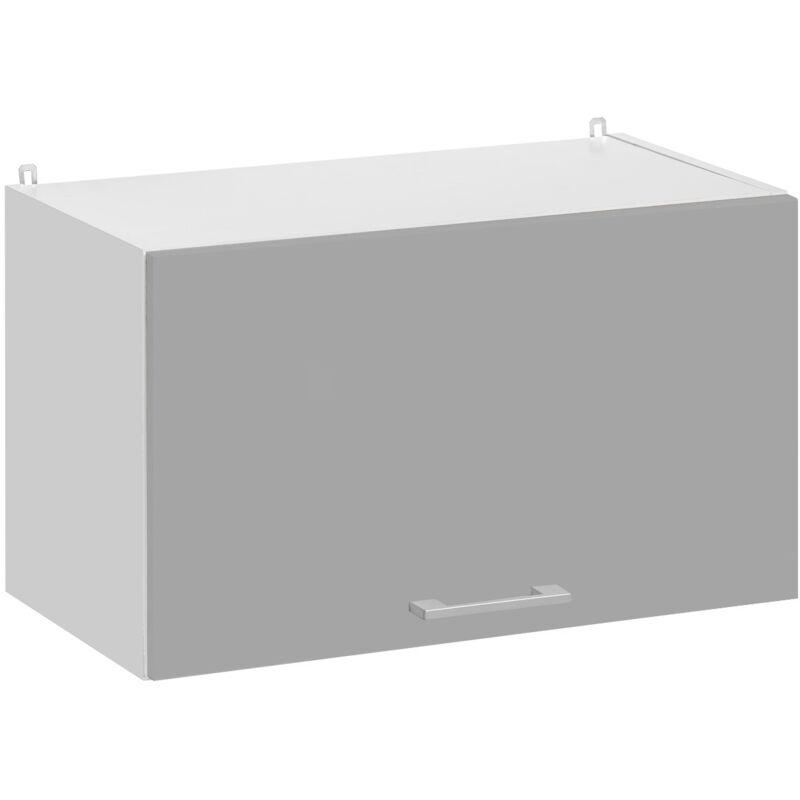 Cuisineandcie - Meuble haut de cuisine - 1 porte relevable L 60 cm - gris brillant - Gris brillant.