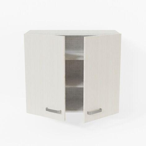 Meuble haut de cuisine - 80 cm - Pin Blanc