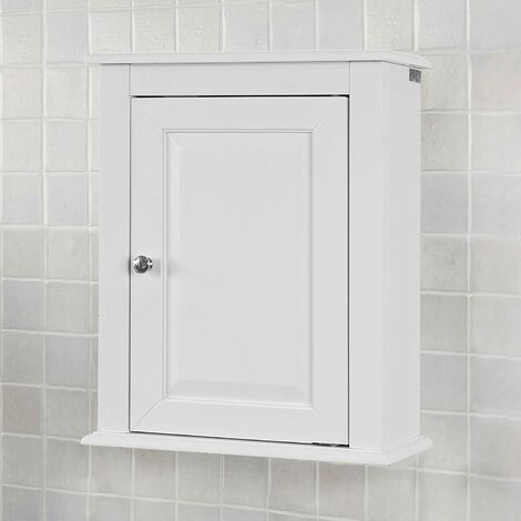 Meuble haut de salle de bain 1 porte placard commode meuble de rangement mural armoire - Rangement placard mural ...