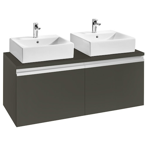 Meuble HEIMA 1200 2 tiroirs pour 2 vasques à poser - Frêne